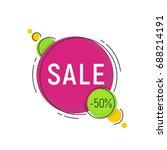 minimal style flat trendy... | Shutterstock .eps vector #688214191