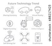 set of future technology trend... | Shutterstock .eps vector #688217425