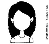 beautiful woman avatar character | Shutterstock .eps vector #688217431