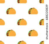 tacos seamless pattern. mexican ... | Shutterstock .eps vector #688220839
