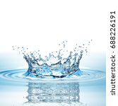 water splash in dark blue color ... | Shutterstock . vector #688226191