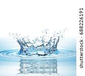 water splash in dark blue color ... | Shutterstock . vector #688226191