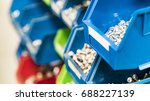 storage bin rack. full of... | Shutterstock . vector #688227139