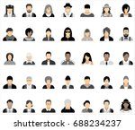 set of thirty five icons of... | Shutterstock .eps vector #688234237