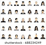 set of thirty five icons of... | Shutterstock .eps vector #688234249