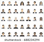 set of thirty five icons of... | Shutterstock .eps vector #688234294