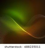 vector wave particles... | Shutterstock .eps vector #688235011