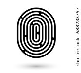 round maze icon. finding the... | Shutterstock .eps vector #688238797