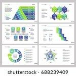 six teamwork slide templates set | Shutterstock .eps vector #688239409