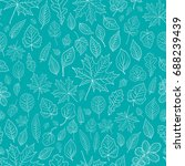 leaves silhouette seamless... | Shutterstock .eps vector #688239439