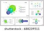 six analysis slide templates set | Shutterstock .eps vector #688239511
