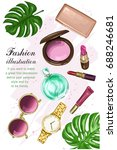 beautiful cosmetics set with... | Shutterstock .eps vector #688246681