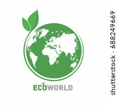 ecology logo. eco world symbol  ... | Shutterstock .eps vector #688249669