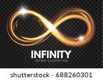 shining infinity symbol.... | Shutterstock .eps vector #688260301