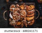 autumn winter pastries. vegan...   Shutterstock . vector #688261171