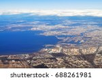 aerial view   gulf of finland... | Shutterstock . vector #688261981