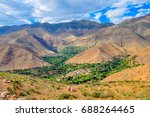 small villages in mountains of... | Shutterstock . vector #688264465