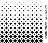black and white square pattern... | Shutterstock .eps vector #688266391