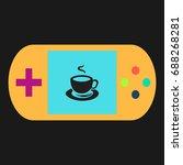 hot coffe simple vector icon....