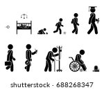 life cycle of a person's... | Shutterstock .eps vector #688268347