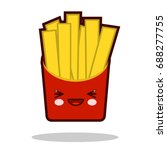 funny french fries cartoon... | Shutterstock .eps vector #688277755