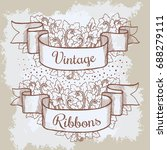 old hand drawn banner to... | Shutterstock . vector #688279111