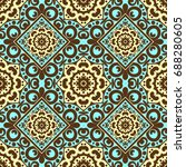 seamless pattern with bright... | Shutterstock . vector #688280605