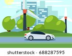flat vector of a white electric ...   Shutterstock .eps vector #688287595