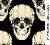 seamless pattern  background... | Shutterstock .eps vector #688292209