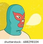 wrestler portrait vector...   Shutterstock .eps vector #688298104
