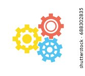 gears machinery pieces | Shutterstock .eps vector #688302835