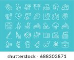 set of line icons  sign and... | Shutterstock . vector #688302871
