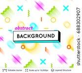 vector multicolored geometric... | Shutterstock .eps vector #688302907