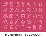 set of line icons  sign and... | Shutterstock . vector #688303009