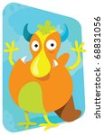 big mouthed funny cartoon of a... | Shutterstock .eps vector #68831056