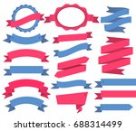 vector ribbons and labels.... | Shutterstock .eps vector #688314499