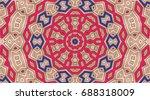 bright flower.creative abstract ... | Shutterstock . vector #688318009