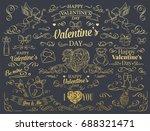 valentine's day design element. ... | Shutterstock .eps vector #688321471