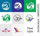 travel logos | Shutterstock .eps vector #688321951