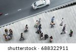 people walk on the pedestrian... | Shutterstock . vector #688322911