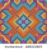 mexican pattern inspired by... | Shutterstock .eps vector #688323805