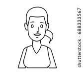 portrait woman character... | Shutterstock .eps vector #688333567