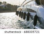 Luxury Yatch In A Port
