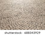 stone paving stone wall... | Shutterstock . vector #688343929