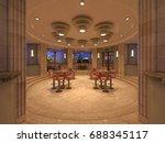 3d cg rendering of the lounge | Shutterstock . vector #688345117
