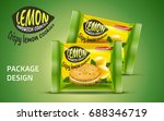 sandwich cookie package design  ... | Shutterstock .eps vector #688346719