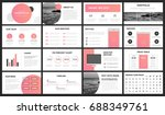 modern pink and yellow gradient ... | Shutterstock .eps vector #688349761