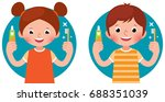 cartoon vector illustration... | Shutterstock .eps vector #688351039