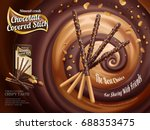 chocolate covered stick ads ... | Shutterstock .eps vector #688353475