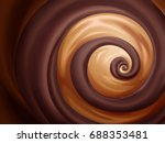 chocolate and caramel sauce... | Shutterstock .eps vector #688353481